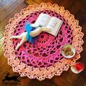 Romantikus horgolt szőnyeg (rózsa-barack), Lányos gyerekszobába kicsitől egészen kamasz, ...