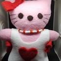 I love Kitti Valentina, Szerelmeseknek, Kitti cica LOve  polárból , Meska