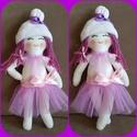 baba lila színekben , Játék, Játékfigura, 30 cm magas lila színű baba, puha polár anyagból varrott , tüll szoknyácskában, Meska