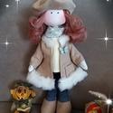 BABA, Gyerek & játék, Varrás, 38 cm magas álló, öltöztethető, fésülhető baba, Meska