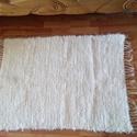 Kézzel szőtt szőnyeg, Otthon, lakberendezés, Lakástextil, Szőnyeg, Szövés, Kézzel készült vastag rongyszőnyegek, kb 100 cm hosszú és 70 cm szélességű. Nagyon puha érintésű, e..., Meska
