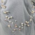 Egyszerű, tenyésztett gyöngyös lánc, Esküvő, Esküvői ékszer, Egyszerű tenyésztett gyöngyös lánc. Az ékszer anyaga: damil, tenyésztett gyöngy  Szín:szine..., Meska