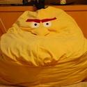 """babzsák fotel """"Angry Birds"""", Bútor, Játék, Babzsák, Játékfigura, Sárga színű """"mérges madár"""" várja gazdáját! Az ülőalkalmatosság 1m magas, ülőmagassága 46 cm,az ülőfe..., Meska"""