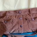 Kord táska, Táska, Válltáska, oldaltáska, A táska  barna kord anyagú szoknyából készült. A meglévő zsebeket kihasználtam, így elől is hátul is..., Meska
