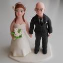 Kopasz vőlegényes nászpár, Esküvő, Esküvői dekoráció, Nászajándék,  Ha úgy érzed, hogy feldobnád az Esküvőd valami nem hétköznapival, akkor a legjobb helyen jársz! :) ..., Meska