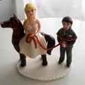 Vicces lovas nászpár, Esküvő, Esküvői dekoráció, Nászajándék, Ha úgy érzed, hogy feldobnád az Esküvőd valami nem hétköznapival, akkor a legjobb helyen jársz! :) E..., Meska