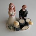 Énekes dobos nászpár hangszerekkel, Esküvő, Esküvői dekoráció, Nászajándék, Ha úgy érzed, hogy feldobnád az Esküvőd valami nem hétköznapival, akkor a legjobb helyen jársz! :) E..., Meska