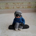 Kis snowboard -os figura , Mindenmás, Ha úgy érzed, hogy feldobnád a gyermeked, szeretted Szülinapját valami igazán egyedivel és széppel, ..., Meska