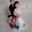 Házassági évfordulós nászpár gyerekekkel (kép alapján), Esküvő, Esküvői dekoráció, Nászajándék, Ha úgy érzed, hogy feldobnád az Esküvőd valami nem hétköznapival, akkor a legjobb helyen jársz! :) E..., Meska