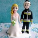 Tűzoltós nászpár, Esküvő, Esküvői dekoráció, Nászajándék, Ha úgy érzed, hogy feldobnád az Esküvőd valami nem hétköznapival, akkor a legjobb helyen jársz! :) E..., Meska