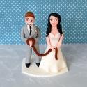 Vicces nászpár ember fejjel, Esküvő, Esküvői dekoráció, Nászajándék, Ha úgy érzed, hogy feldobnád az Esküvőd valami igazán egyedivel, akkor a legjobb helyen jársz! :) Eg..., Meska
