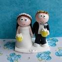 South Park nászpár sörrel, Esküvő, Esküvői dekoráció, Nászajándék, Ha úgy érzed, hogy feldobnád az Esküvőd valami nem hétköznapival, akkor a legjobb helyen jársz! :) E..., Meska