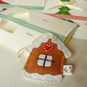Illatos képeslap mézeskalács házikóval, Küldd el a karácsony illatát szeretteidnek, kol...