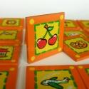 ÚJ! Óvodai/bölcsődei jel szögletes 4 x4 cm cseresznye, ÚJ FORMÁBAN, MÉG SZEBB, MÉG JOBB:  a Bubudekor...