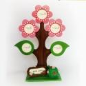 Tavaszi családfa képkeret 3 virággal, két levéllel, A Bubudekor családfa már tavaszi változatban is...