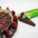 Fa szeletes torta erzsi felhasználó részére foglalva, Fa torta hűtőmágnes 18 szeletes, minden szelete...