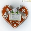 Óriás MázasFalács hűtőmágnes házzassági évfordulóra esküvőre, Íme egy valódi mézeskalácsra hasonlító, gyö...