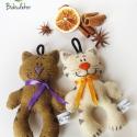 Illatos filc cica Fahéj és Marcipán macska, Karácsonyi ajándékötlet a Bubudekortól. Két ...