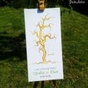 Ujjlenyomat fa csomag vendégkönyv GYŰRŰ csomag, Vendégkönyv kézzel festve?  A legszebb szórako...
