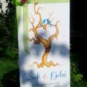 Ujjlenyomat fa csomag vendégkönyv BOKRÉTA csomag, Komplett csomag! Vendégkönyv kézzel festve?  A ...