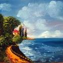 Tengerpart, Képzőművészet, Festmény, Olajfestmény, Festészet, 50x35-ös olaj, farost, Meska
