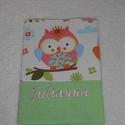 Egészségügyi kiskönyv borító, Baba-mama-gyerek, Baba-mama kellék, Vidám színes egészségügyi kis könyv borító. Rendelhető egyedi színnel mintával és névve..., Meska