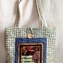 Lovas válltáska, Táska, Válltáska, oldaltáska, Varrás, Lófigurát ábrázoló képpel, pamutvászon - farmer kombinációjával készítettem ezt a táskát. A táska h..., Meska