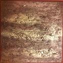 Arany kép, Dekoráció, Otthon, lakberendezés, Kép, Falikép, Festészet, Újrahasznosított alapanyagból készült termékek, 30 x 30 cm Paverpol technikával készült feszített vászonra falikép. A vászonra speciális ragasztóva..., Meska