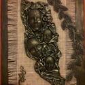 Színház, Otthon, lakberendezés, Dekoráció, Kép, Falikép, 40x 30 cm Paverpol technika alkalmazásával készült falikép. Feszített vászonra texil, gipsz t..., Meska