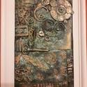 Széthullott idő, Dekoráció, Otthon, lakberendezés, Kép, Falikép, Festészet, Újrahasznosított alapanyagból készült termékek, 23x 33 cm Paverpol technika alkalmazásával készült falikép. Speciális ragasztó segítségével MDF lem..., Meska