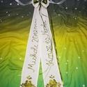 Vőfély szalag, Esküvő, Táska, Divat & Szépség, Esküvői dekoráció, Magyar motívumokkal, Kézzel hímzett tradicionális vőfély szalag. Mérete 2x10x70, Meska