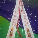 Vőfély szalag, Esküvő, Táska, Divat & Szépség, Esküvői dekoráció, Magyar motívumokkal, Tradicionális kézzel hímzett matyó vagy kalocsai vőfély szalag. Mérete kb 2x10x70 cm., Meska