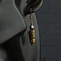 Ava - lámpagyöngy fülbevaló, Ékszer, Fülbevaló, Az enyhén aszimmetrikus fülbevaló lámpagyöngyeit magam olvasztottam gázláng fölött muranoi üvegrúdbó..., Meska