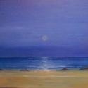 A tenger, Képzőművészet, Kép, Festmény, Olajfestmény, Festészet, Farost lemezre olaj festmény, 50cm*80cm a mérete.Keret nélküli., Meska