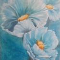 Szellő rózsák, Dekoráció, Képzőművészet, Kép, Olajfestmény, Feszített vászon,művészi olaj festmény,keret nélkül. Mérete:50cm*70cm., Meska