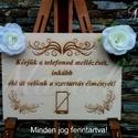 """Esküvői tábla """"Ne fotózz""""- Modell Nr. 2, Esküvő, Dekoráció, Esküvői dekoráció, Ünnepi dekoráció, Famegmunkálás, Gravírozás, pirográfia, """"Ne fozózz"""" tábla,natúr Anyaga 4 mm-es rétegelt ,gravírozott falemez, mérete 30x22 cm .Két díszítől..., Meska"""