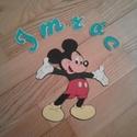 Mickey egér tetszőleges névvel, Dekoráció, Mindenmás, Mickey egeret ragasztok dekorgumiból dekorgumi alapra, az esetleges vonalakat filccel húzom meg. Ho..., Meska