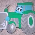 Aranyos Traktorfiú dekorgumiból, Dekoráció, Mindenmás, A képen látható traktort dekorgumiból készítem, majd a  vonalakat filccel megrajzolom. Ezután dekor..., Meska