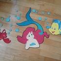 Ariel és barátai, Dekoráció, Mindenmás, A képen látható Arielt, Ficánkát és Sebastiant dekorgumiból készítem, amit dekorgumi alapra ragaszt..., Meska