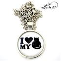 I love my cat, Ékszer, Fülbevaló, Cicaimádóknak készült ez a nyaklánc. Kapható még gyűrű, füli, valamint hajcsat formájába..., Meska
