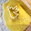 Angyal sütikiszúró, Mindenmás, Mindenmás, Az angyal sütikiszúró általunk tervezett modell alapján, 3D nyomtatás útján készült. Színe fehér, m..., Meska