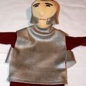 Római katona, Játék, Báb, Katona kesztyűbáb. Anyaga pamut, műbőr, vatelin, Meska