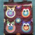 Horgolt baglyos táska , Táska, Válltáska, oldaltáska, Szatyor, Tarisznya, Egyedi, saját gyártású, kézzel horgolt táska bagoly-imádóknak!! :) Gyönyörű, selyemfényű fonalból ho..., Meska