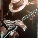 Blues in browns, Képzőművészet, Festmény, Olajfestmény, Olaj, kasírozott vászon, keret nélkül   Ez a kép 50x70 cm-es (az ár erre a méretre vonatkozik), de m..., Meska