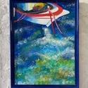 Tengeri kikötő, Képzőművészet, Festmény, Akril, Akril, farost 30x40 cm, keret nélkül, Meska