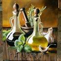 Olio di oliva 25x30 olajfestmény, Képzőművészet, Festmény, Olajfestmény, Festészet, 25x30cm-es olajfestmény feszített vászon alapon, keret nélkül.     , Meska