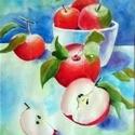 Almák akvarellel, Képzőművészet, Festmény, Akvarell, Akvarell festmény, 24x32cm  Keret nélkül     , Meska