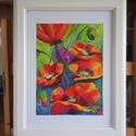 Pipacsok - eredeti akvarell festmény, Képzőművészet, Festmény, Akvarell, Festészet, 24x32cm-es eredeti akvarellfestmény művész akvarellpapíron, keret nélkül.     , Meska