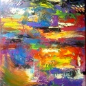 Abszolút absztrakt - eredeti olajfestmény, Képzőművészet, Festmény, Olajfestmény, 25x30cm-es olajfestmény feszített vászon alapon, keret nélkül.    , Meska