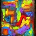 Ambivalencia 25x30 olajfestmény, Képzőművészet, Festmény, Olajfestmény, 25x30cm-es olajfestmény feszített vászon alapon, keret nélkül. Festőkéses technikával készült.    ..., Meska